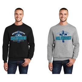 Northwest Christian Football Crewneck Sweatshirt.