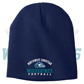 Northwest Christian Football Port & Company Knit Beanie. CP94.