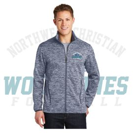 Northwest Christian Football Sport-Tek PosiCharge Electric Heather Soft Shell Jacket. JST30.