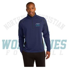 Northwest Christian Football Sport-Tek Sport-Wick Stretch 1/2-Zip Colorblock Pullover. ST851.
