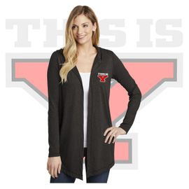 Yelm HS Staff District Women's Perfect Tri Hooded Cardigan. DT156.