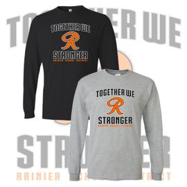 Rainier Boosters Long Sleeve T-Shirt (Together We Are Stronger Logo).