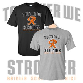 Rainier Boosters T-Shirt (Together We Are Stronger Logo).