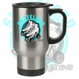Skateland Union Gap 14 oz. Silver Stainless Steel Travel Mug. SM19SS.