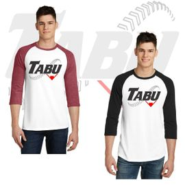 TABU Fastpitch District Very Important Tee 3/4-Sleeve Raglan. DT6210.