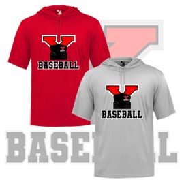 Yelm HS Baseball Badger B-Core Hooded T-Shirt. 4123.
