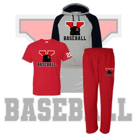 Yelm HS Baseball Colorblocked Hooded Sweatshirt SpiritPack.