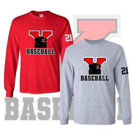 Yelm HS Baseball Long Sleeve T-Shirt.