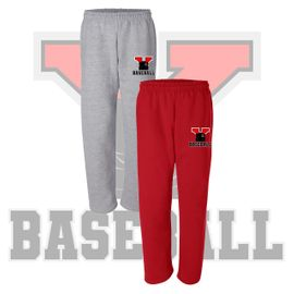 Yelm HS Baseball Open Bottom Sweatpants..