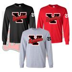 Yelm HS Fastpitch Long Sleeve T-Shirt.