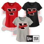 Yelm HS Fastpitch New Era Ladies Series Performance Scoop Tee. LNEA200
