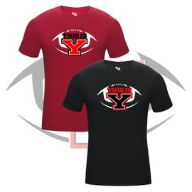 Yelm HS Football Badger Pro-Compression T-Shirt. 462100.