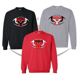 Yelm HS Football Crewneck Sweatshirt.