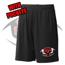 Yelm HS Football Sport-Tek PosiCharge Shorts With Pockets. ST312.