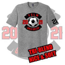 Yelm HS Girls Soccer District Perfect Tri Tee.