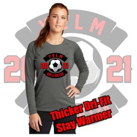 Yelm HS Girls Soccer Sport-Tek Ladies Long Sleeve Rashguard Tee.