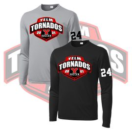 Yelm HS Soccer Sport-Tek Long Sleeve PosiCharge Competitor Tee. ST350LS.