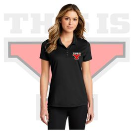 Yelm HS Staff Port Authority Ladies Eclipse Stretch Polo. LK587.