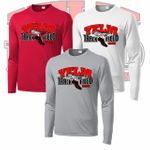 Yelm HS Track & Field Long Sleeve Compression Tee. ST350LS.