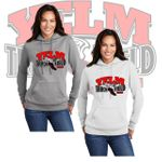 Yelm HS Track & Field Port & Company Ladies Core Fleece Pullover Hooded Sweatshirt. LPC78H.