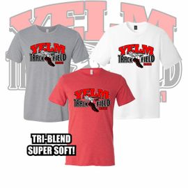 Yelm HS Track & Field Triblend Tee. 3413.