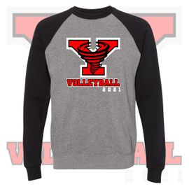 Yelm HS Volleyball Independent Trading Co. Unisex Special Blend Raglan Sweatshirt. PRM30SBC.