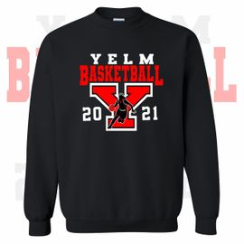 Yelm HS Girls Basketball Crewneck Sweatshirt.