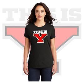 Yelm HS Staff District Women's Perfect Tri Tee. DM130L.
