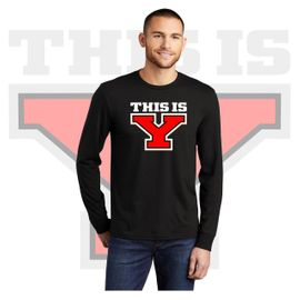 Yelm HS Staff District Perfect Tri Long Sleeve Tee. DM132.