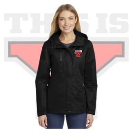 Yelm HS Staff Port Authority Ladies All-Conditions Jacket. L331.