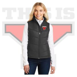 Yelm HS Staff Port Authority Ladies  Puffy Vest. L709