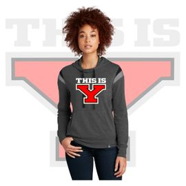 Yelm HS Staff New Era Ladies Heritage Blend Varsity Hoodie. LNEA108.