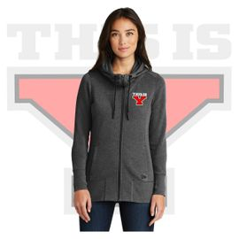 Yelm HS Staff New Era Ladies Tri-Blend Fleece Full-Zip Hoodie. LNEA511.