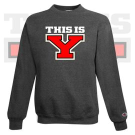 Yelm HS Staff Champion Double Dry Eco Crewneck Sweatshirt. S600.