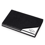 Black Leatherette Business Card Holder