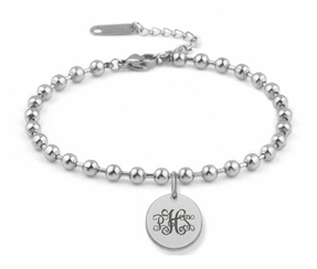 Stainless Steel Circle Charm Bracelet