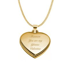 Gold Braided Heart Necklace