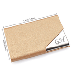 Gold Leatherette Business Card Holder