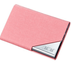 Pink Leatherette Business Card Holder
