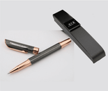 Rose Gold & Gunmetal Rollerball Pen