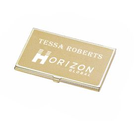 Satin Gold Business Card Holder Case