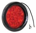 "4"" Round Stop-Turn-Tail Light, 10 LED Red Buyers 5624110"