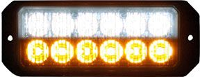 "5"" 12 LED, Light Strobe, Amber/Clear, Buyers 8891702"
