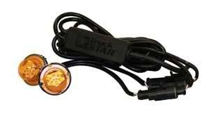 Amber LED Strobe Light w/ 2 In-Line Flashers, 15' Cable, Buyers 8891216