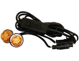 Amber Bolt-On Hidden LED Strobe Kits with In-Line Flashers and 15' Cable, Buyers 8891216