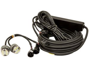 Clear LED Strobe Lights (snap-in) w/ 2 In-Line Flashers and 25' Cable, Buyers 8891325