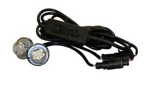 25 Foot Clear Bolt-On Hidden Strobe Kits With In-Line Flashers With 6 LED's, Buyers 8891225