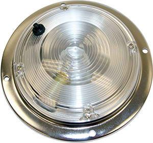 Dome Light, 232.4 lumens, 12 vdc, On-Off Switch, Buyers 5625030