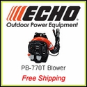Echo PB-770T, ECHO's Most Powerful Blower, FREE SHIPPING, UPS GROUND ONLY