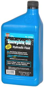 Hydraulic Oil (Blue) 1 Quart, replaces Meyer 15134, Western 49311, Buyers SAM 1307005